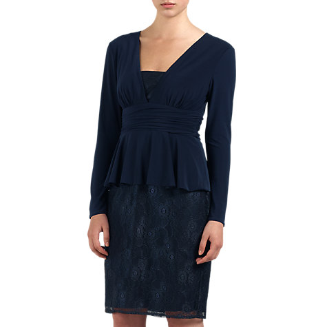 Buy Ariella Jersey Dress, Navy Online at johnlewis.com