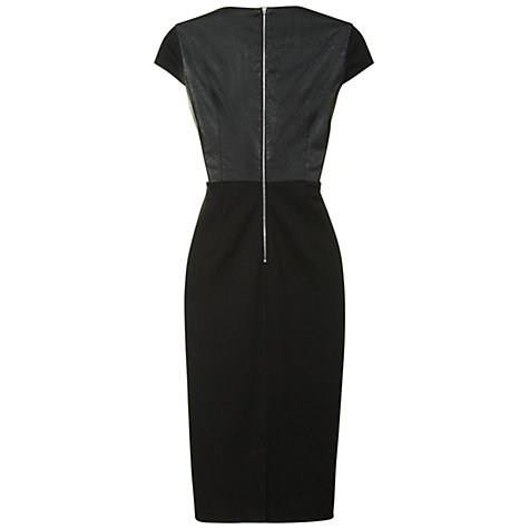 Buy True Decadence Faux Leather Panelled Dress, Black Online at johnlewis.com