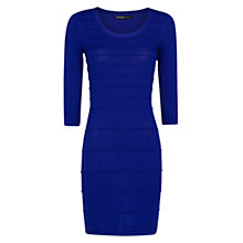 Buy Mango Textured Stripe Dress, Blue Online at johnlewis.com