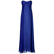 Buy True Decadence Ruched Bandeau Maxi Dress, Blue Online at johnlewis.com