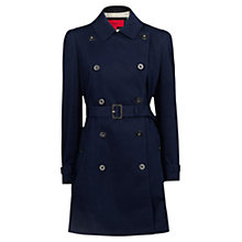 Buy Mango Double Breasted Trench Coat, Navy Online at johnlewis.com