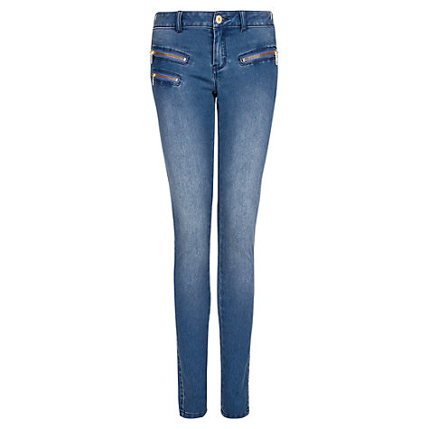 Buy Mango Zippers Jeans, Medium Blue Online at johnlewis.com