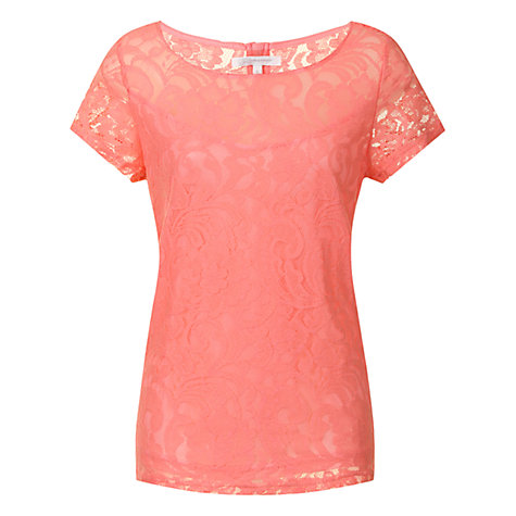 Buy True Decadence Lace T-Shirt, Pink Online at johnlewis.com