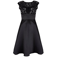Buy Ariella Zoe Embellished Satin Dress, Black Online at johnlewis.com