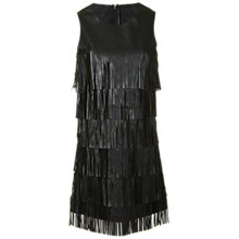 Buy True Decadence Tiered Tasselled Dress, Black Online at johnlewis.com
