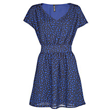 Buy Mango Stitch Panel Dress. Medium Blue Online at johnlewis.com