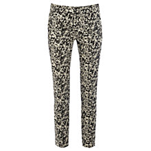 Buy Warehouse Blur Rose Print Trousers, Black Online at johnlewis.com