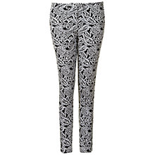 Buy True Decadence Paisley Tapered Trousers, Black Paisley Online at johnlewis.com