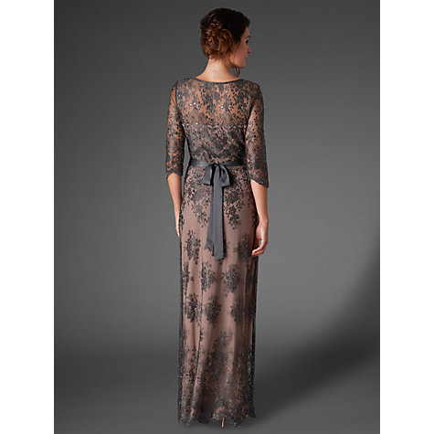 Buy Phase Eight Collection 8 Sabrina Lace Beaded Dress, Charcoal Online at johnlewis.com