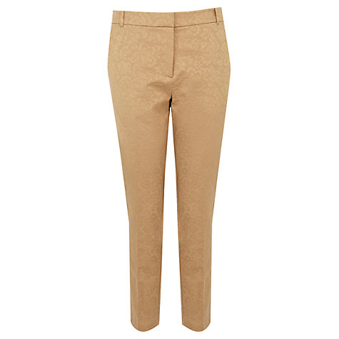 Buy Oasis Leila Trousers, Camel Online at johnlewis.com