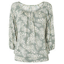 Buy Phase Bella Butterfly Top, Grey/Ivory Online at johnlewis.com