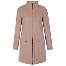 Buy Hobbs Gilian Coat, Dusky Pink Online at johnlewis.com