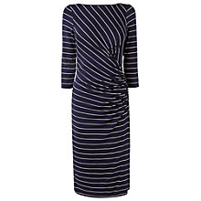 Buy Phase Eight Stripe Side Ruched Dress Online at johnlewis.com