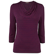 Buy Phase Eight Carrie Stripe Top, Navy/bordeaux Online at johnlewis.com