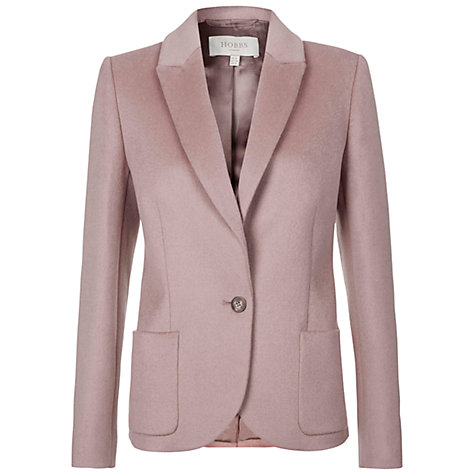 Buy Hobbs Gilian Jacket, Dusty Pink Online at johnlewis.com