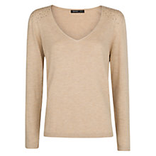 Buy Mango Strass Jumper, Light Beige Online at johnlewis.com