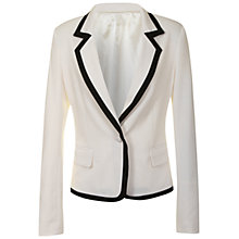 Buy True Decadence Contrast Trim Blazer, White/Black Online at johnlewis.com