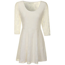 Buy True Decadence Lace Layer Skater Dress, Cream Online at johnlewis.com