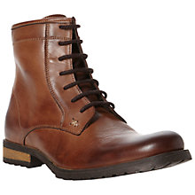Buy Dune Chestnut Leather Lace Up Boots Online at johnlewis.com