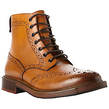 Buy Dune Canterbury Leather Lace Up Brogue Boots Online at johnlewis.com