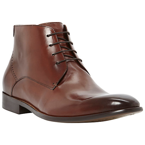 Buy Dune Monte Carlo Leather Lace Up Boots Online at johnlewis.com