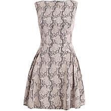 Buy Almari Lace Gather Dress, Beige Online at johnlewis.com