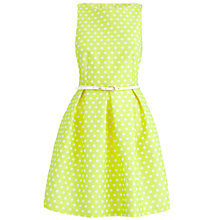 Buy Almari Spot Pleat Dress, Lime Online at johnlewis.com