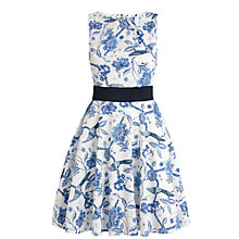 Buy Almari Bird Print Dress, Blue Online at johnlewis.com