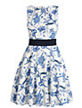 Almari Bird Print Dress, Blue