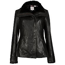 Buy Ted Baker Lea Shearling Jacket, Black Online at johnlewis.com