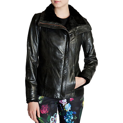 Ted Baker Lea Shearling Jacket, Black