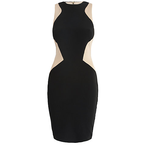 Buy Almari Contrast Panel Dress, Beige Online at johnlewis.com
