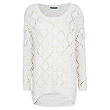 Buy Mango Open Knit Sweater, Natural White Online at johnlewis.com