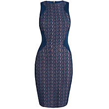 Buy Almari Lace Bodycon Dress, Navy Online at johnlewis.com