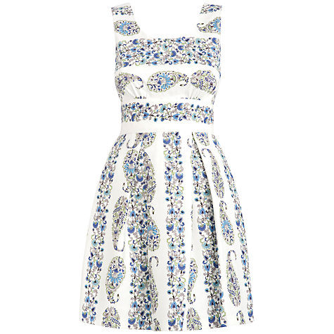 Buy Almari Cut Out Floral Dress, Multi Online at johnlewis.com