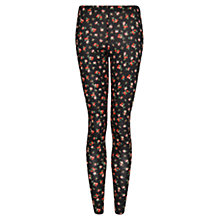 Buy Mango Printed Leggings, Black Online at johnlewis.com