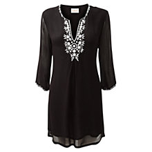 Buy East Stone Embellished Tunic, Black Online at johnlewis.com