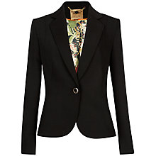 Buy Ted Baker Theaa Stretch Crepe Suit Jacket, Jet Online at johnlewis.com