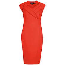 Buy Ted Baker Dixy Cross Over Tailored Dress, Dark Orange Online at johnlewis.com