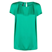 Buy Mango Pleated Blouse, Green Online at johnlewis.com