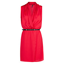 Buy Mango Belted Wrap Dress, Pink Online at johnlewis.com
