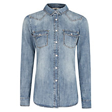 Buy Mango Dark Wash Denim Shirt, Medium Blue Online at johnlewis.com