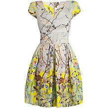 Buy Almari Floral Border Dress, Lime Online at johnlewis.com