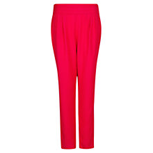 Buy Mango Jacquard Baggy Trousers, Medium Pink Online at johnlewis.com