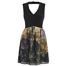 Buy Almari Chiffon Print Dress, Green Online at johnlewis.com