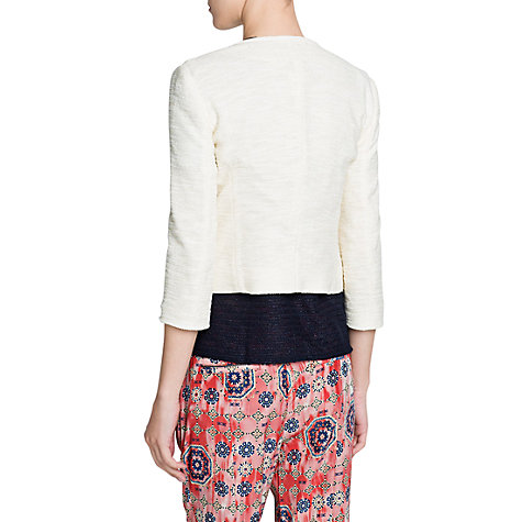 Buy Mango Lurex Boucle Jacket, Natural White Online at johnlewis.com
