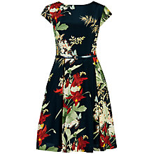 Buy Ted Baker Torella Bloom Print Dress, Dark Green Online at johnlewis.com