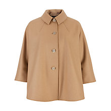 Buy Ted Baker Systio Collared Cape Coat, Camel Online at johnlewis.com