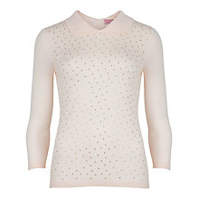 Buy Ted Baker Bronty Sparkle Jumper, Light Pink Online at johnlewis.com