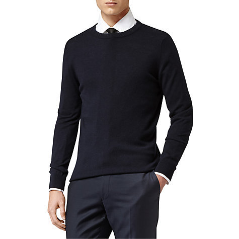 Buy Reiss Orion Merino Wool Crew Neck Jumper Online at johnlewis.com